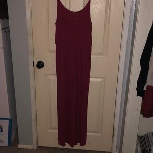 Rose Red Maxi Dress